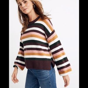 Madewell stripe payton pull over sweater